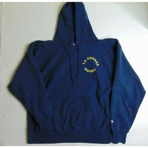 Champion 2XL Reverse Hoodie Sweatshirt La Blue
